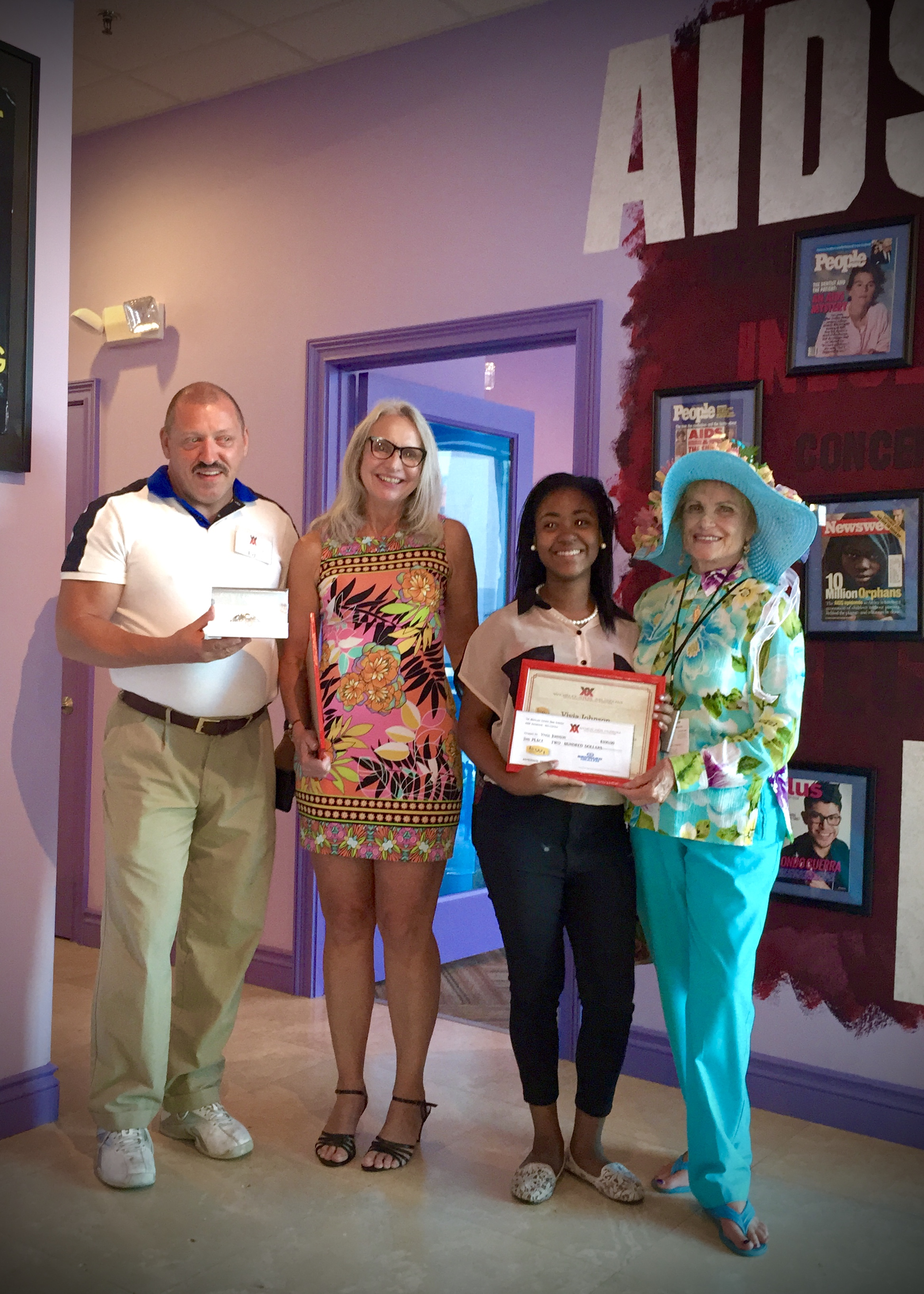 Broward High School AIDS Awareness Art Contest Awards-1
