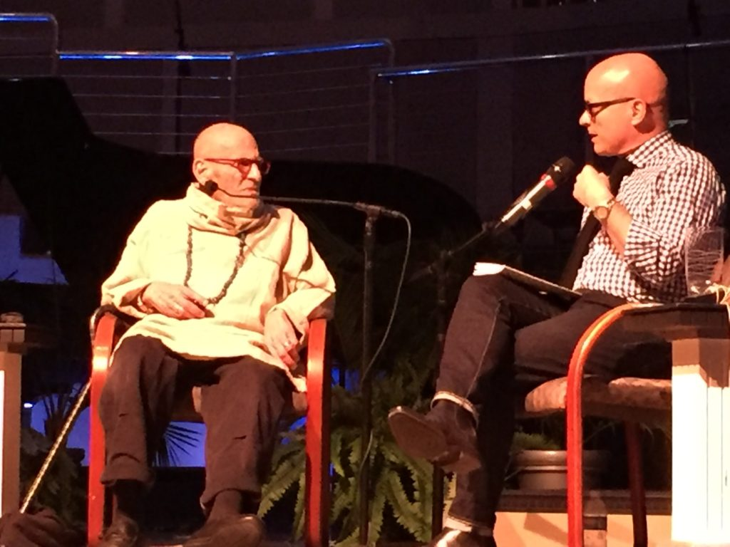 Kevin Sessums interviews Larry during An Evening with Larry Kramer March 10 2017-4