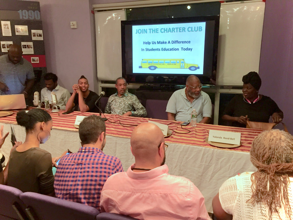 Panelists gather for Impact of HIV Stigma on the Black Community in South Florida event at the World AIDS Museum and Educational Center 10-24-2017