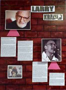 Larry Kramer Biographical Exhibit at World AIDS Museum