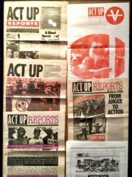 ACT UP Reports exhibit