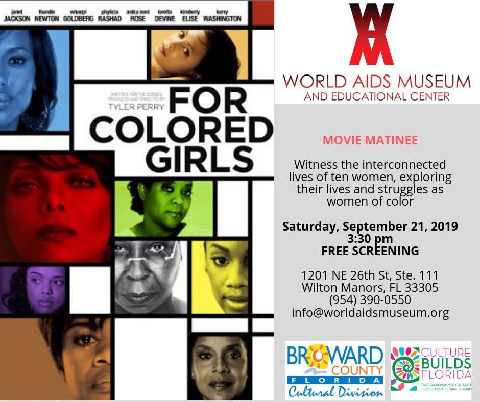 For Colored Girls – 9/21 WAM Movie Matinee